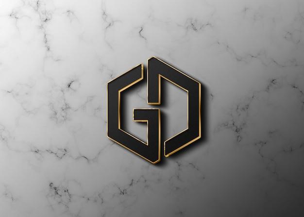 Logo-logo-modell der grafikdesign-software