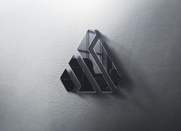 Logo mockup an der wand