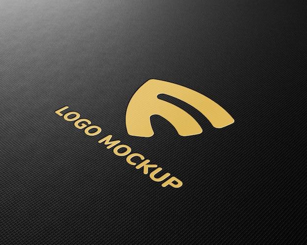 Logo-mockup auf schwarzem stoff