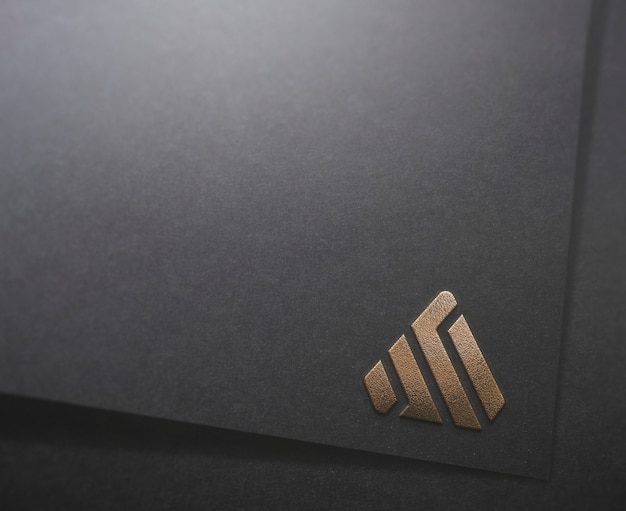 Logo mockup black paper verschiedene stile
