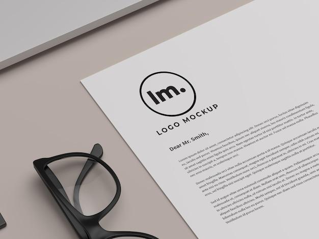 Logo mockup design isoliert