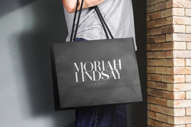 Logo mockup einkaufstasche