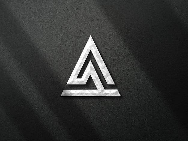 Logo-mockup metallic-effekt