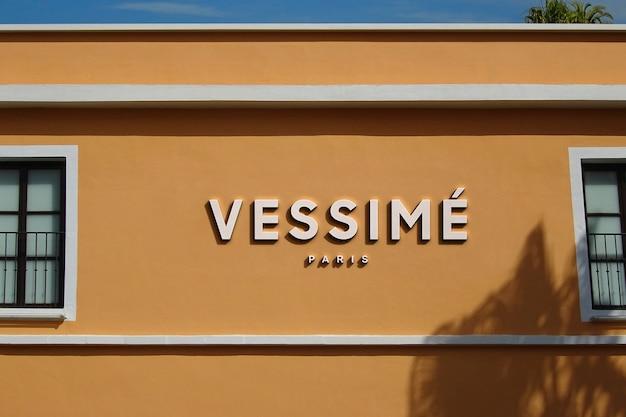 Logo mockup modern orange gebäude zeichen