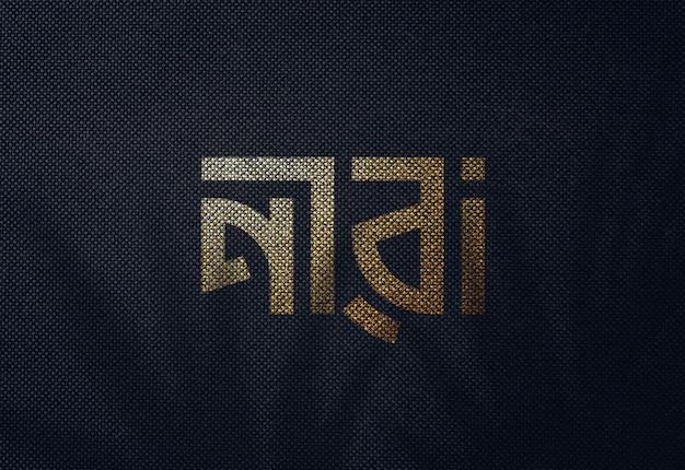 Logo mockup ob schwarzes papier