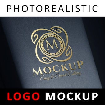 Logo mockup - prägung goldfolienprägung logo auf black box