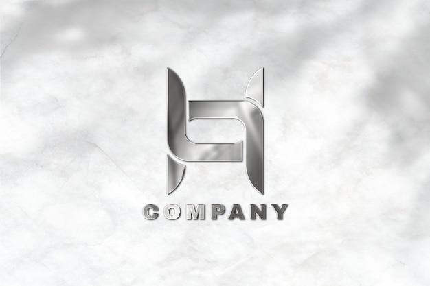 Logo-mockup-psd für unternehmen prägen