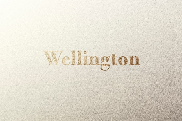 Logo mockup textured gold