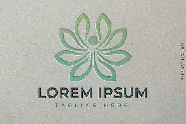 Logo-modell auf konkreter textur