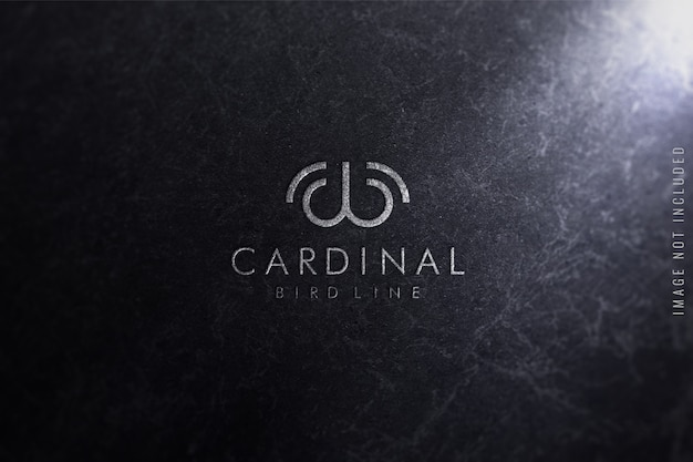 Logo-modell auf marmorbeschaffenheit