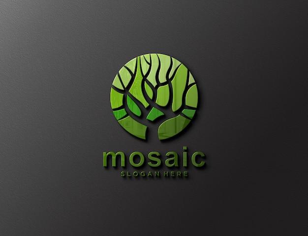Logo modell elegant geprägt an der wand