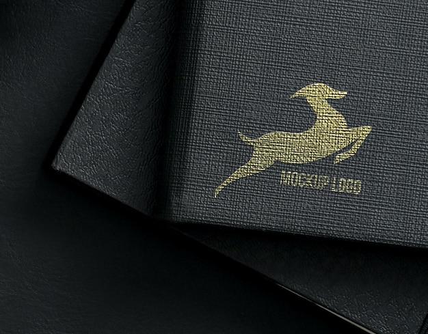 Logo-modell - luxusstil auf buch
