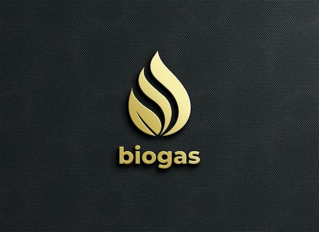 Logo-modell mit geprägtem style-rendering