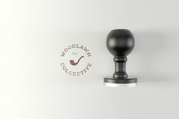 Logo stamp mockup