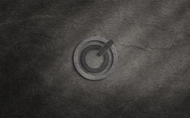 Logomodell auf rauem wandhintergrund