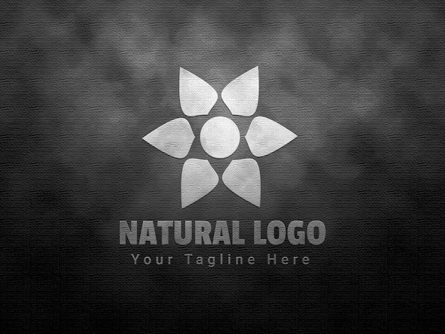 Logomodell mit natürlicher prägung und prägung