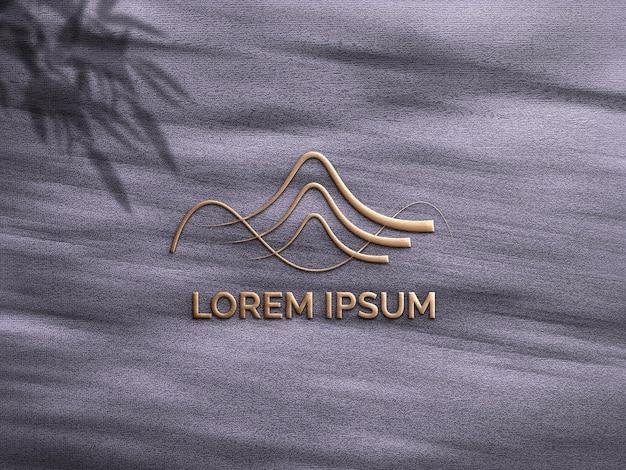 Logomodell mit schatten