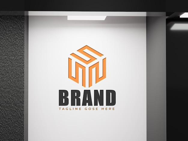 Logomodell sauberer firmenbürohintergrund