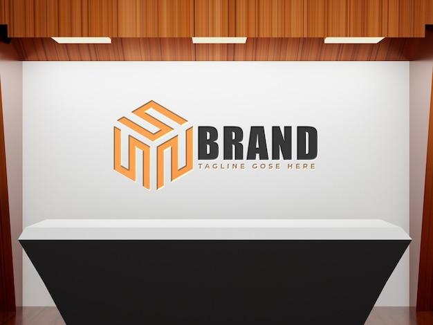 Logomodell weißer firmenbürohintergrund