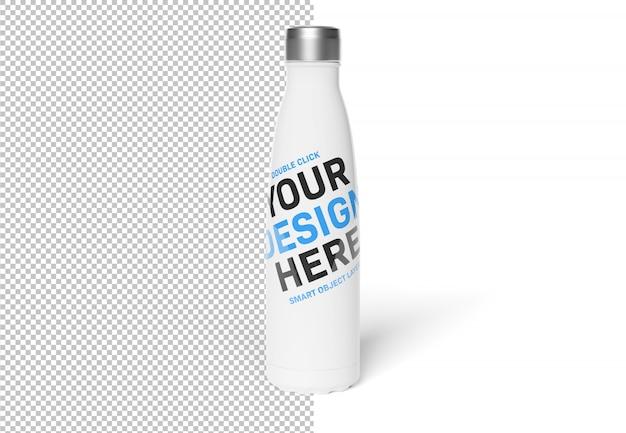 Lokalisierte herausgeschnittene sport-flasche auf weißem modell