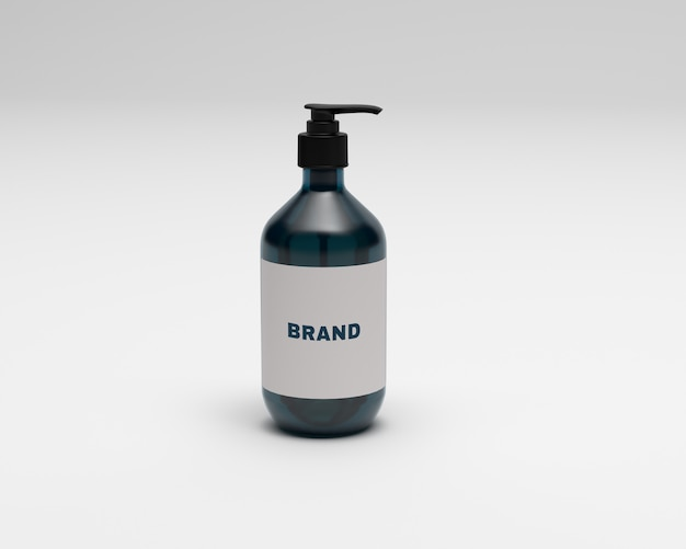 Lotion bottle mockup