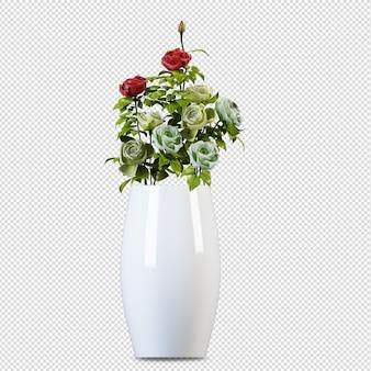 Lotus vase in 3d-rendering isoliert
