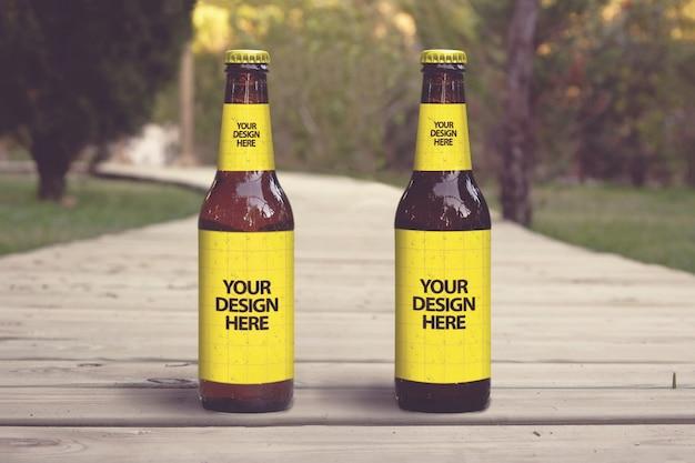 Lounge club beer mockup