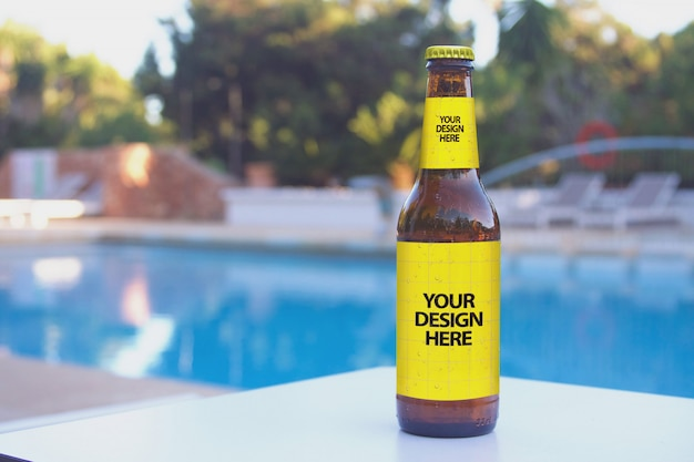 Lounge club pool bier mockup