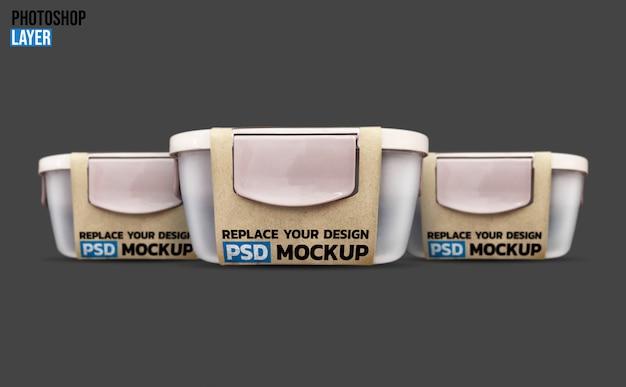 Lunch box mockup design