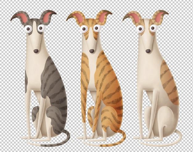 Lustige hunde clipart