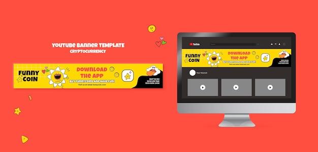 Lustiges youtube-banner für kryptowährungen