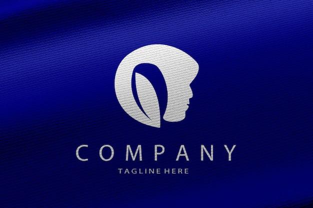 Luxuriöser logo-mockup-stoff