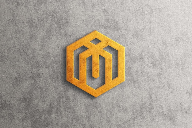 Luxuriöses 3d-logo-modell mit goldeffekt