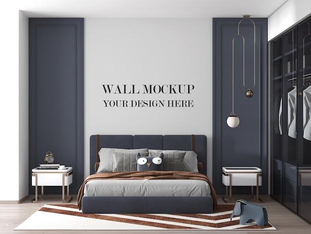 Luxuriöses modernes schlafzimmerwandmodell