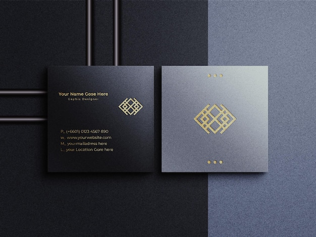 Luxuriöses quadratisches visitenkartenmodell
