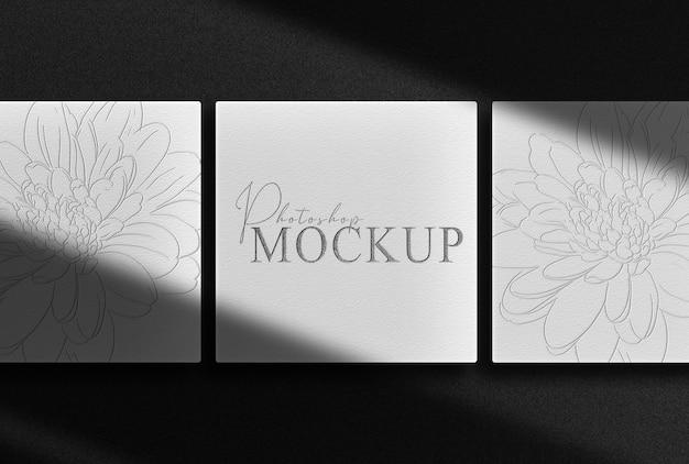 Luxuriöses schwarzes geprägtes box-draufsichtsmodell