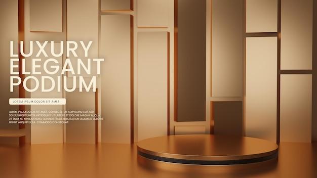 Luxury glänzendes geometrisches podium