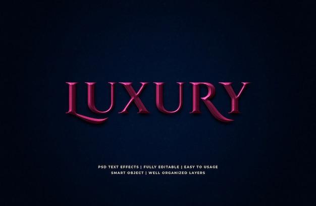 Luxus 3d text style effekt