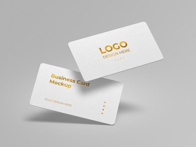 Luxus abgerundete ecken visitenkarte mockup design