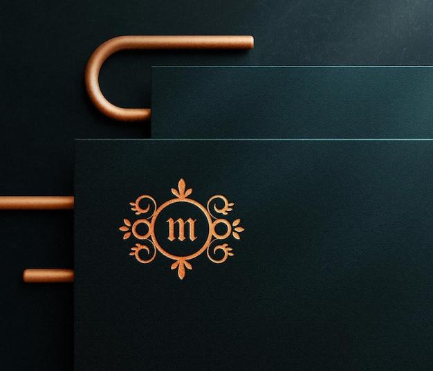 Luxus geprägtes logo-modell