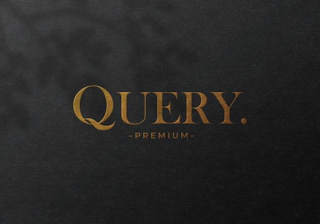 Luxus gold geprägt logo logo