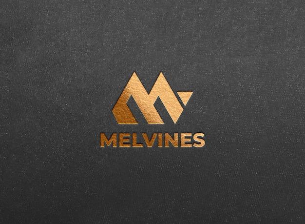 Luxus golden geprägtes logo-modell