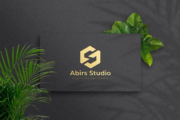 Luxus golden logo mockup