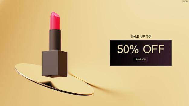 Luxus lippenstift verkauf banner