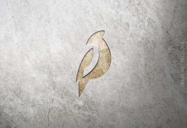 Luxus-logo-modell auf marmorbeschaffenheit