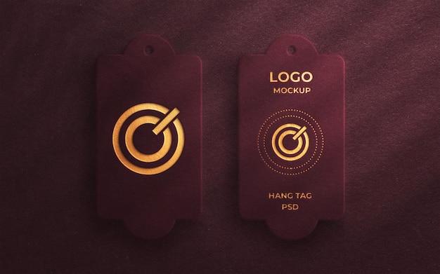 Luxus-logo-modell auf produkt hängen tag