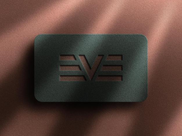 Luxus-logo-modell mit buchdruck-effekt