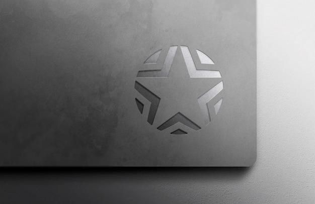 Luxus silber logo modell auf magazin