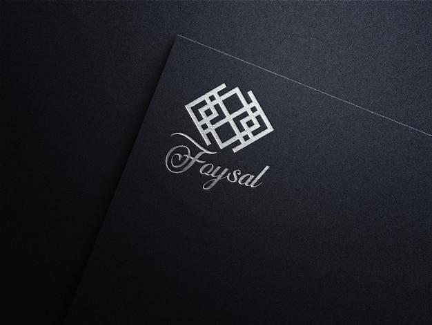 Luxus-silberfolie logo-modell