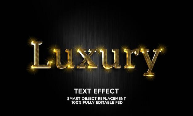Luxus-texteffektvorlage